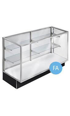 70 inch Extra Vision Black Metal Framed Display Case