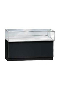 48 inch Metal Framed Black Jewelry Display Case Ready To Assemble