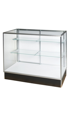 "48"" Black Display Case - Extra Vision Metal Framed"