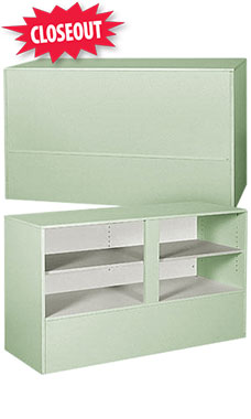 70 inch Seafoam Green Service Counter Ready to Assemble
