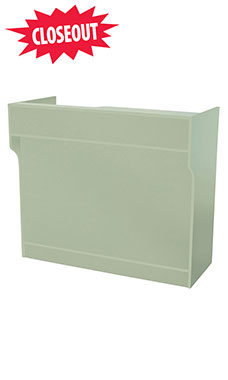 70 inch Seafoam Green Ledgetop Service Counter Fully Assembled
