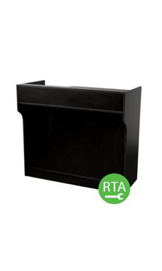 48 inch Black Ledgetop Service Counter Ready to Assemble