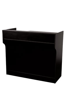 70 inch Black Ledgetop Service Counter Fully Assembled