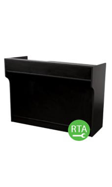 70 inch Black Ledgetop Service Counter Ready to Assemble