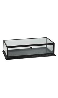 Black Wood Countertop Display Case