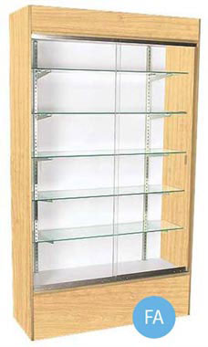 48 inch Maple Wall Unit Display Case Fully Assembled
