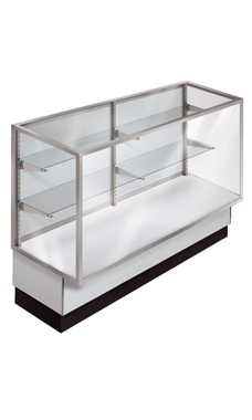 48 inch Full Vision Gray Metal Framed Display Case Ready To Assemble