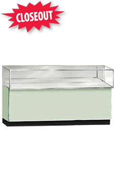 70 inch Seafoam Green Metal Framed Jewelry Display Case