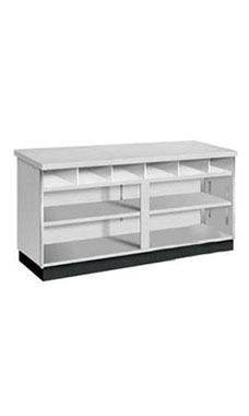6 foot Gray Metal Framed Service Counter Fully Assembled