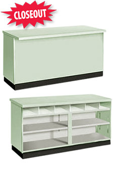 48 inch Seafoam Green Metal Framed Service Counter