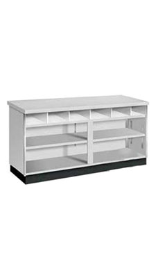 48 inch Gray Metal Framed Service Counter Fully Assembled