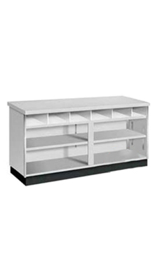 Gray 4' Service Counter - Metal Framed