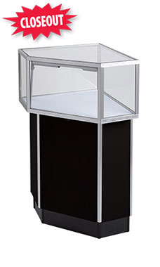 Black Metal Framed Jewelry Corner Display Case Attachment