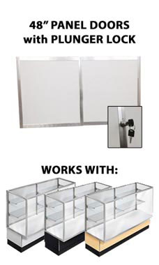 Panel Doors and Plunger Lock Kit for 48 inch Metal Framed Full Vision Showcase