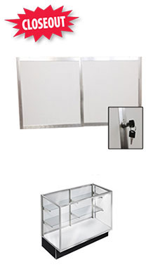 Panel Doors and Plunger Lock Kit for 48 inch Metal Framed Extra Vision Showcase