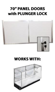 Panel Doors and Plunger Lock Kit for 70 inch Metal Framed Extra Vision Showcase