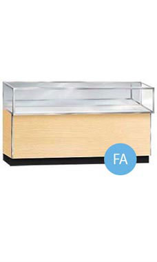 "Maple 70""W Metal Framed Jewelry Display Case"