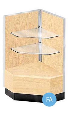 Maple Metal Framed Open-Shelf Corner Filler Fully Assembled