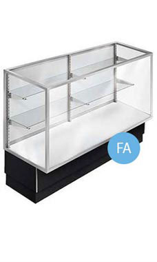 48 inch Full Vision Black Metal Framed Display Case