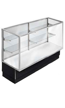 70 inch Full Vision Black Metal Framed Display Case Ready To Assemble