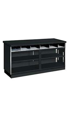 Black 6' Service Counter - Metal Framed