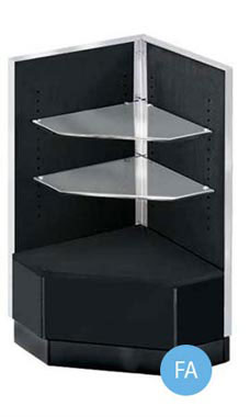 Black Metal Framed Open-Shelf Corner Filler