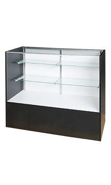 48 inch Full Vision Black Display Case Fully Assembled
