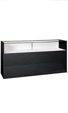 70 inch Black Jewelry Display Case Fully Assembled