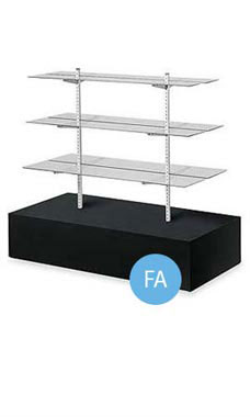 Black Glass Shelf Gondola