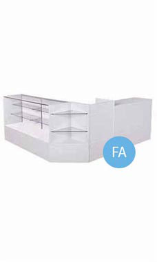 Gray Display Case Arrangement Set - Fully Assembled