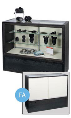 48 inch Charcoal Black Full Vision Display Case