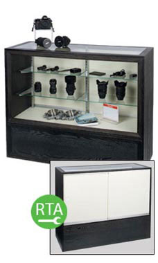 "Charcoal Black 48"" Full Vision Display Case - Ready to Assemble"
