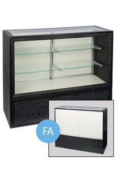 70 inch Charcoal Black Full Vision Display Case