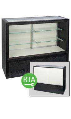 Charcoal 70 inch Full Vision Display Case- Ready to Assemble
