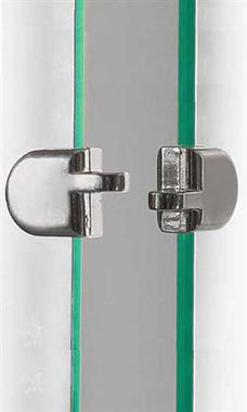 2-Piece Chrome Metal Hasp for Glass Panels