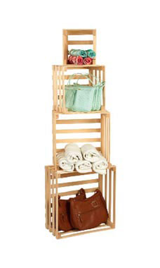 Set of 4 Nesting Crates