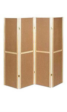 4 Panel Pegboard Displays   68328