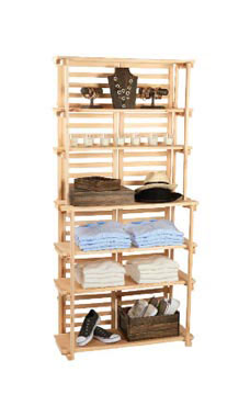 Natural Finish Wood Baker's Rack Display