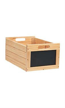 Medium Natural Wood Chalkboard Crate
