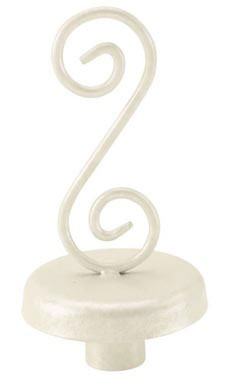 Boutique Ivory S-Shape Finial for Dressmaker Forms