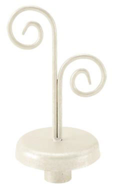 Boutique Ivory Double Curl Finial for Dressmaker Forms