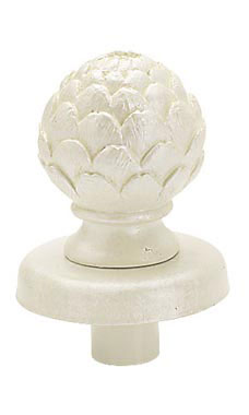 Boutique Ivory Artichoke Finial for Dressmaker Forms