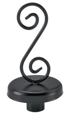 Boutique Black S-Shape Finial for Dressmaker Forms