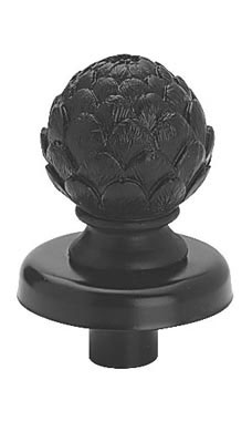 Boutique Black Artichoke Finial for Dressmaker Forms
