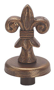 Boutique Cobblestone Fleur De Lis Finial for Dressmaker Forms