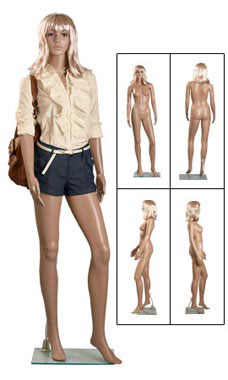 Plastic Female Mannequin with Wig
