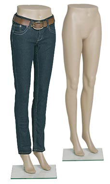 Female Plastic Mannequin Leg Form