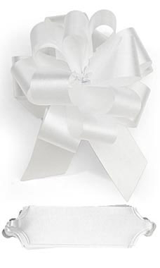 White 5½ inch Pull Bows