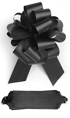 Black 5½ inch Pull Bows