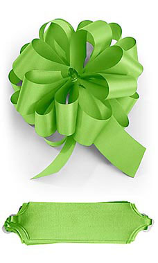 Lime 5½ inch Green Pull Bows